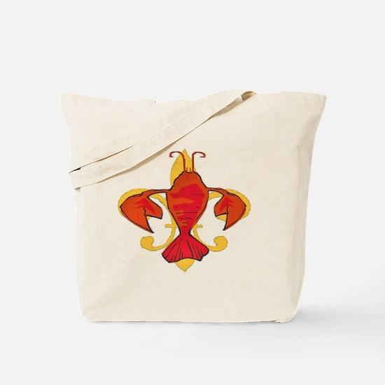 Crawfish Fleur De Craw Tote Bag