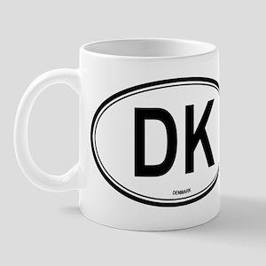 Denmark (DK) euro Mug