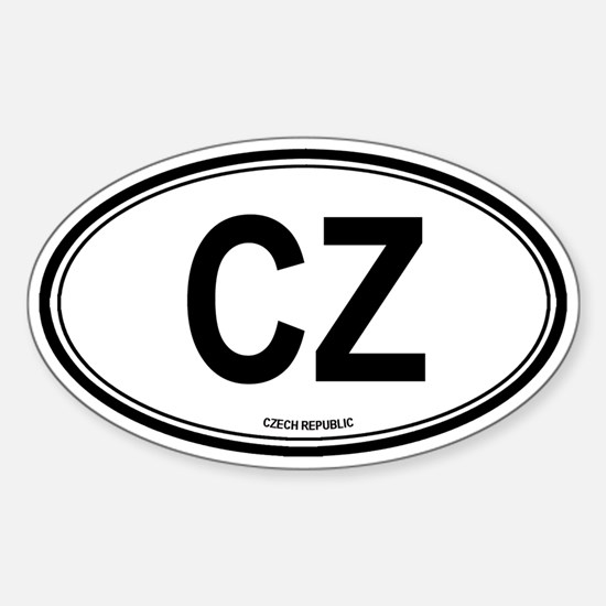Czech Republic (CZ) euro Oval Decal