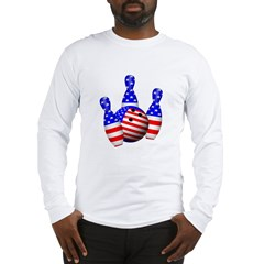 Stars And Stripes Bowler Long Sleeve T-Shirt