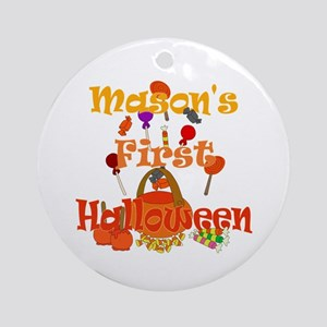 First Halloween Mason Ornament (Round)