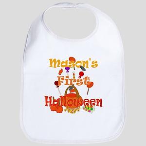 Mason's First Halloween Bib