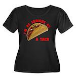 Serious! Women's Plus Size Scoop Neck Dark T-Shirt
