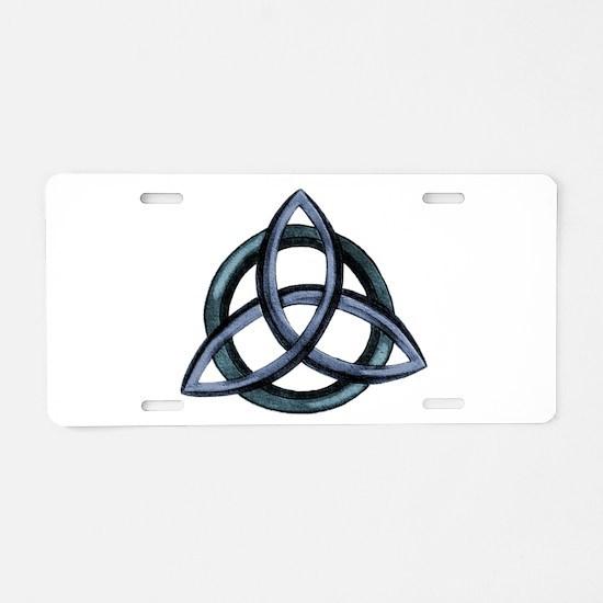 Triquetra Blue Aluminum License Plate