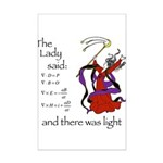 The Lady said: Mini Poster Print