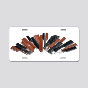 Jumbled Combs Aluminum License Plate