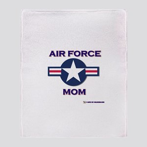 air force mom Throw Blanket