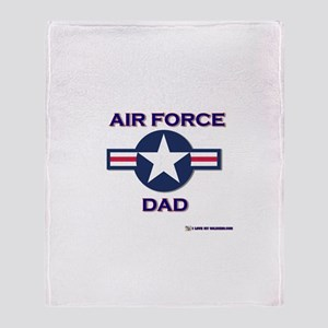 air force dad Throw Blanket