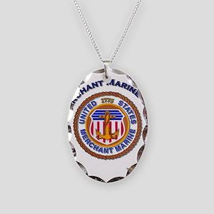 Merchant Marine Dad Necklace Oval Charm