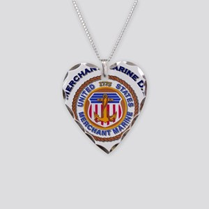 Merchant Marine Dad Necklace Heart Charm