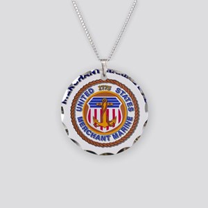Merchant Marine Dad Necklace Circle Charm