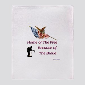 Because of the Brave Throw Blanket