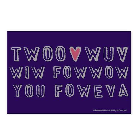 Princess Bride Twoo Wuv Foweva Postcards (Package