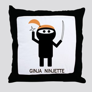 GINJA NINJETTE Throw Pillow