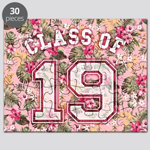 Class of 19 Floral Pink Puzzle