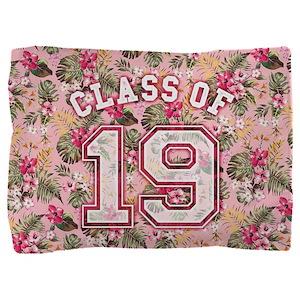 Class of 19 Floral Pink Pillow Sham