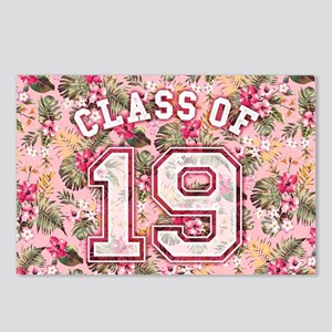 Class of 19 Floral Pink Postcards (Package of 8)