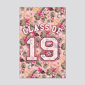 Class of 19 Floral Pink Mini Poster Print