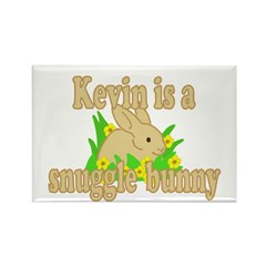 Kevin is a Snuggle Bunny Rectangle Magnet (100 pac