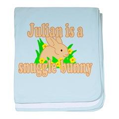 Julian is a Snuggle Bunny baby blanket
