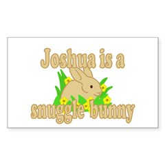 Joshua is a Snuggle Bunny Decal