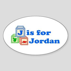 a8fde4a53be Baby Blocks Jordan Sticker (Oval)