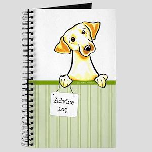 Yellow Lab Advice Stripe Journal