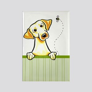 Yellow Lab Bee Nice Rectangle Magnet