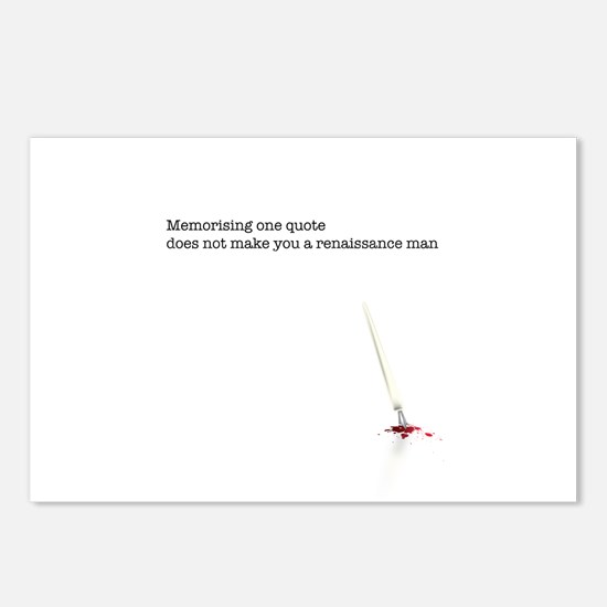 Memorising a quote... Postcards (Package of 8)