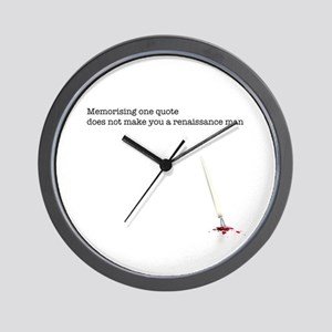 Memorising a quote... Wall Clock