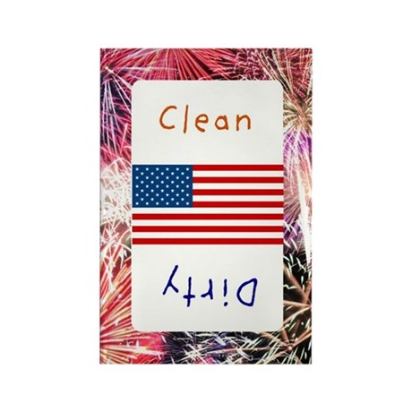 Fourth of July Clean/Dirty Magnets