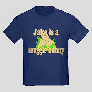 Jake is a Snuggle Bunny Kids Dark T-Shirt
