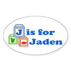 Baby Blocks Jaden Sticker (Oval 50 pk)