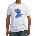 Blue Lady Fitted T-Shirt