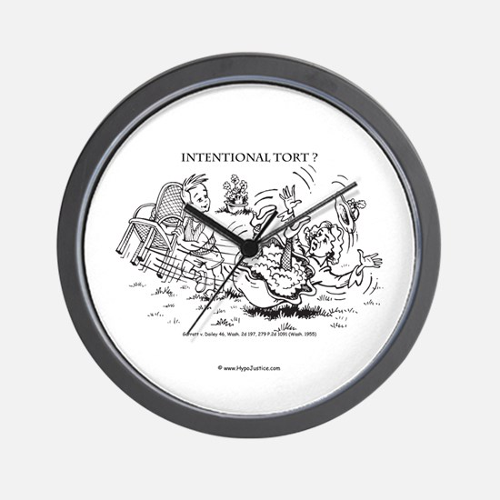 """Intentional Tort"" Wall Clock"