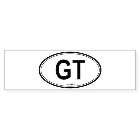 Guatemala (GT) euro Bumper Sticker