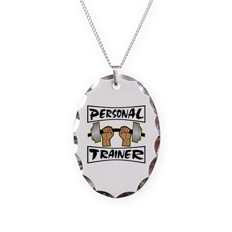 Personal Trainer Necklace Oval Charm