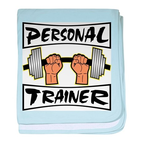 Personal Trainer baby blanket