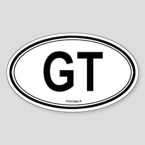 Guatemala (GT) euro Oval Sticker