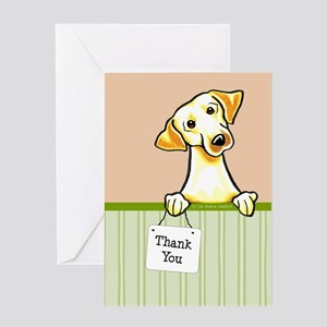 Yellow Lab TY Melon Greeting Card