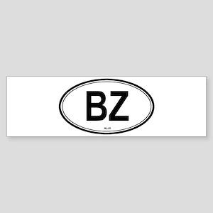 Belize (BZ) euro Bumper Sticker