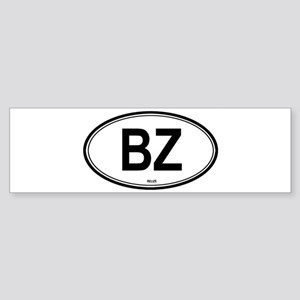 Belize (BZ) euro Bumper Sticker