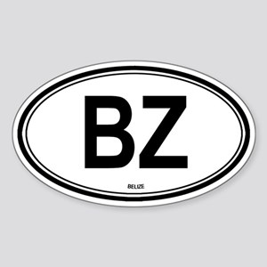 Belize (BZ) euro Oval Sticker
