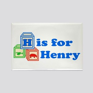 Baby Blocks Henry Rectangle Magnet
