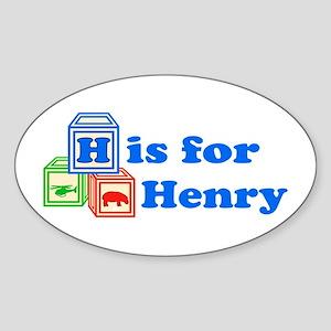 Baby Blocks Henry Sticker (Oval)