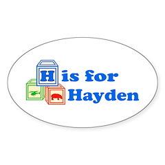 Baby Blocks Hayden Sticker (Oval 10 pk)