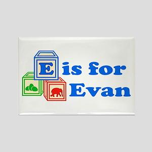 Baby Blocks Evan Rectangle Magnet