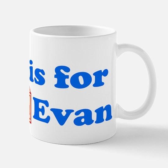 Baby Blocks Evan Mug