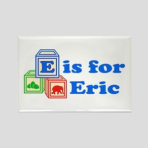 Baby Blocks Eric Rectangle Magnet