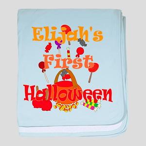 First Halloween Elijah baby blanket